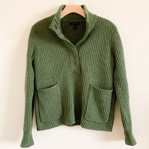 J CREW Green Pullover Sweater